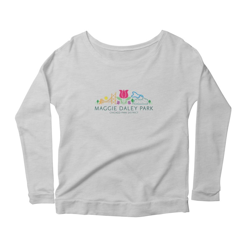 Maggie Daley Park Women's Scoop Neck Longsleeve T-Shirt by chicago park district's Artist Shop