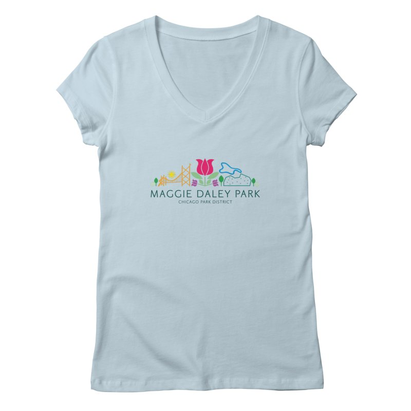 Maggie Daley Park Women's V-Neck by chicago park district's Artist Shop