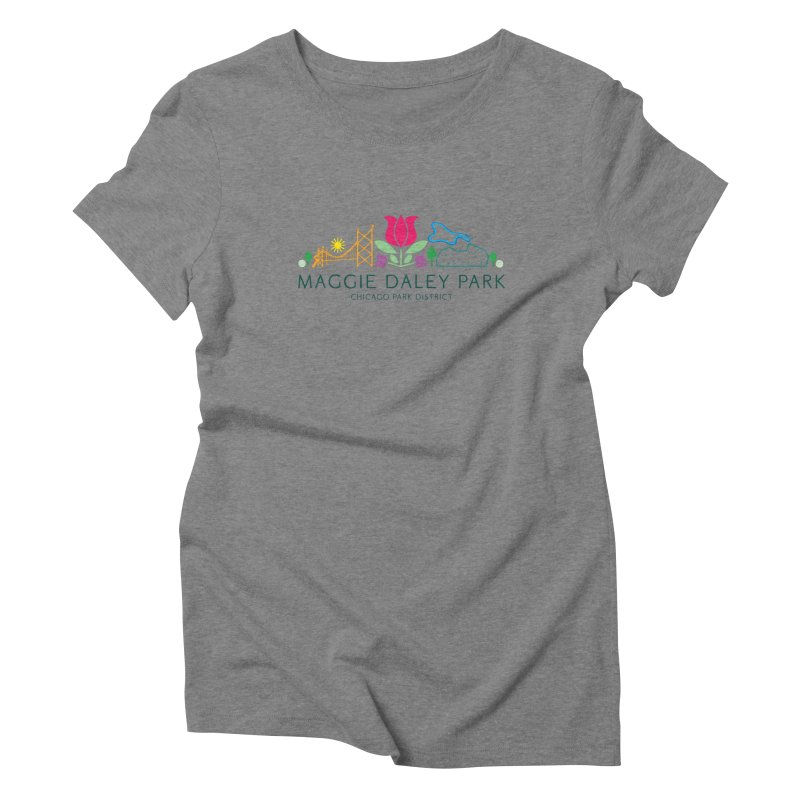 Maggie Daley Park Women's Triblend T-Shirt by chicago park district's Artist Shop