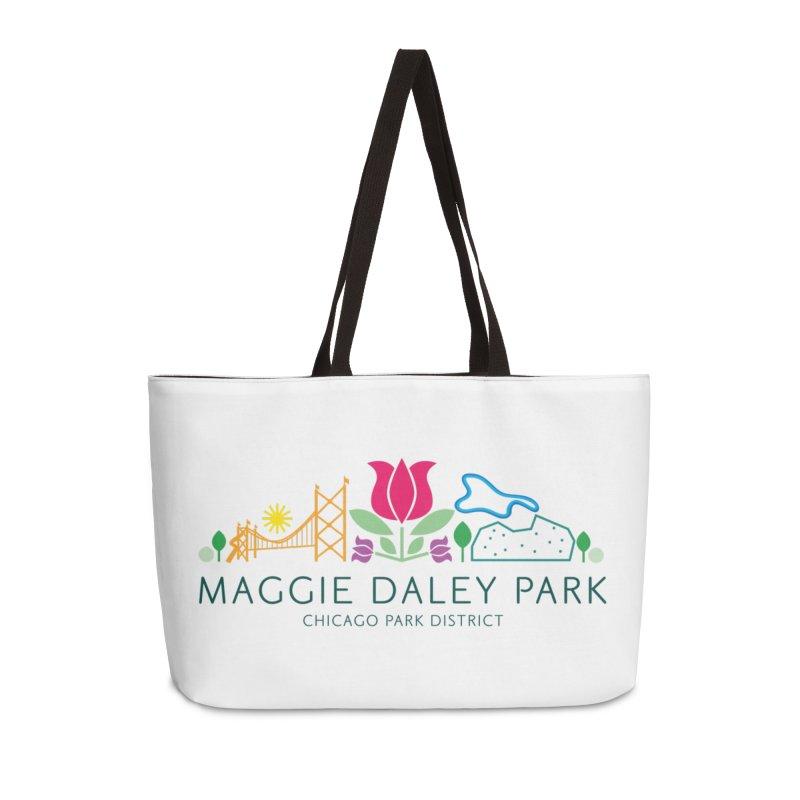 Maggie Daley Park Accessories Weekender Bag Bag by chicago park district's Artist Shop