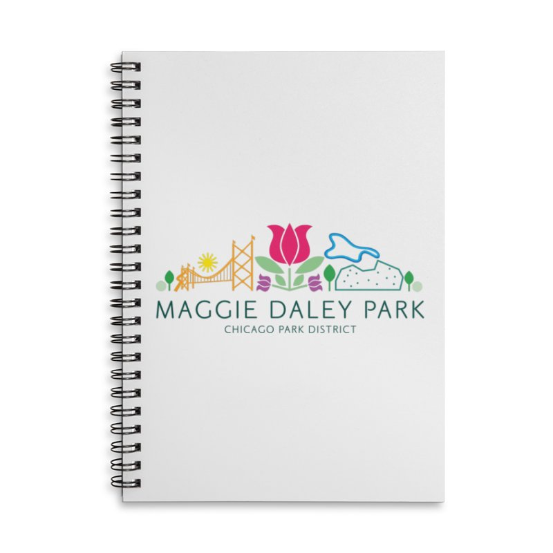 Maggie Daley Park Accessories Lined Spiral Notebook by chicago park district's Artist Shop