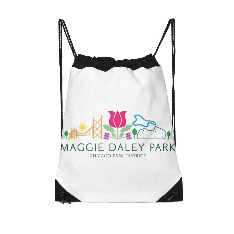 Maggie Daley Park Accessories Drawstring Bag Bag by chicago park district's Artist Shop