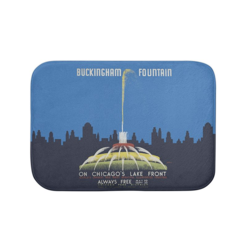 Buckingham Fountain Home Bath Mat by chicago park district's Artist Shop