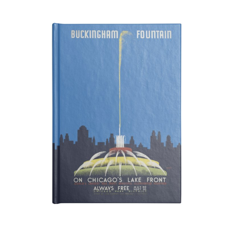 Buckingham Fountain Accessories Lined Journal Notebook by chicago park district's Artist Shop