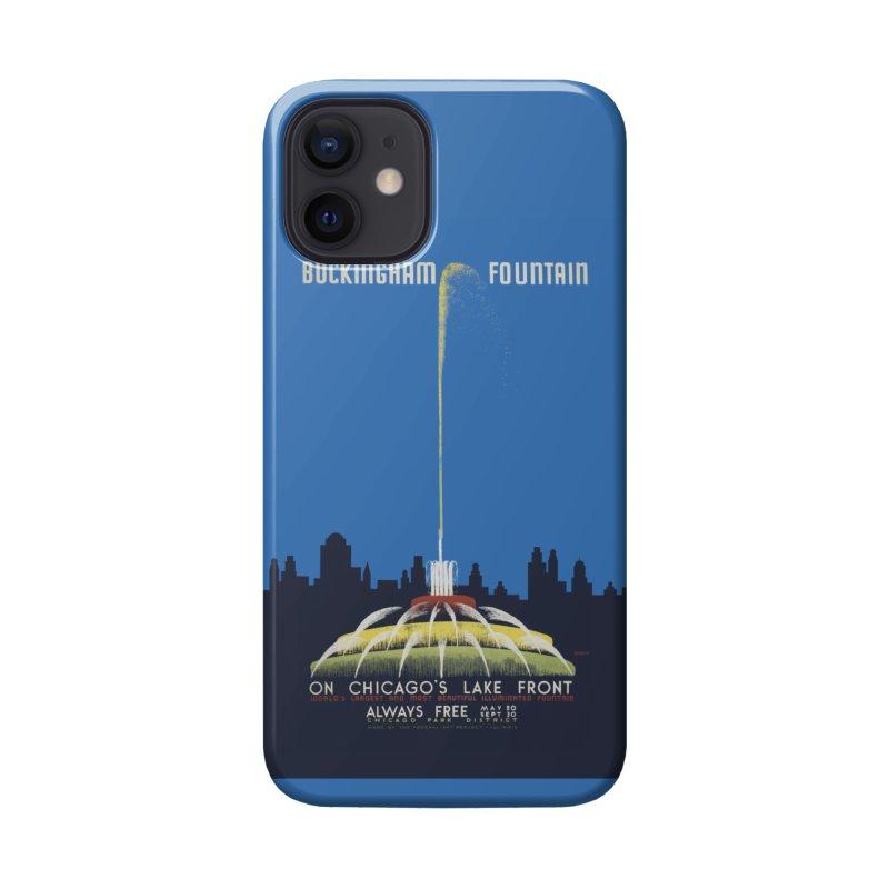 Buckingham Fountain Accessories Phone Case by chicago park district's Artist Shop