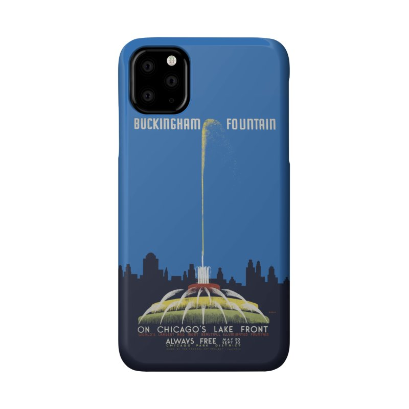 Buckingham Fountain Accessories Phone Case by chicago park district's Artist Shop