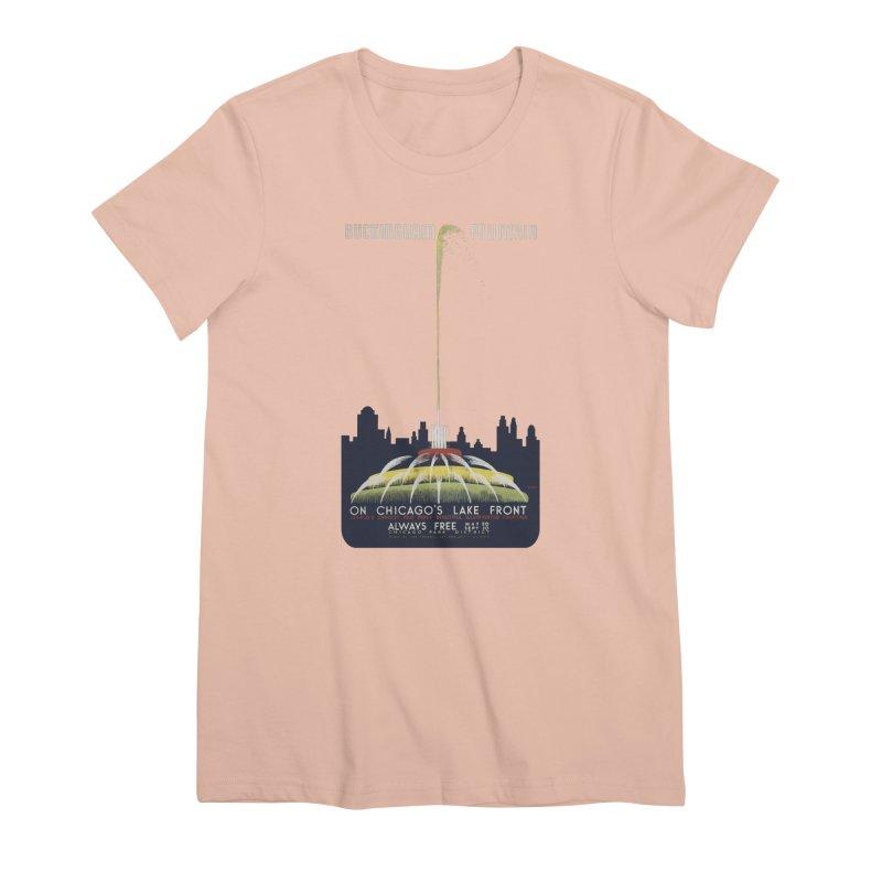 Buckingham Fountain Women's T-Shirt by chicago park district's Artist Shop