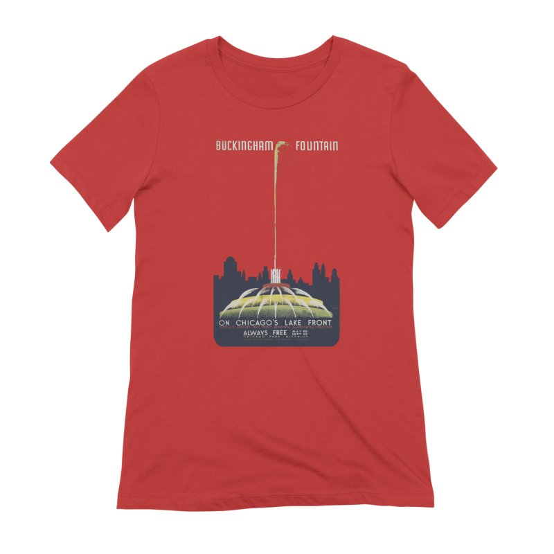 Buckingham Fountain Women's Extra Soft T-Shirt by chicago park district's Artist Shop