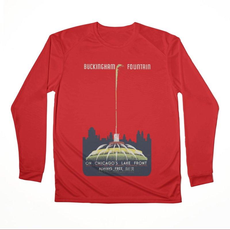 Buckingham Fountain Women's Performance Unisex Longsleeve T-Shirt by chicago park district's Artist Shop
