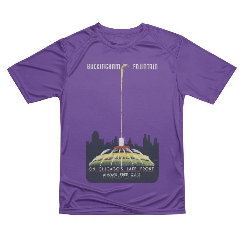 Buckingham Fountain Men's T-Shirt by chicago park district's Artist Shop