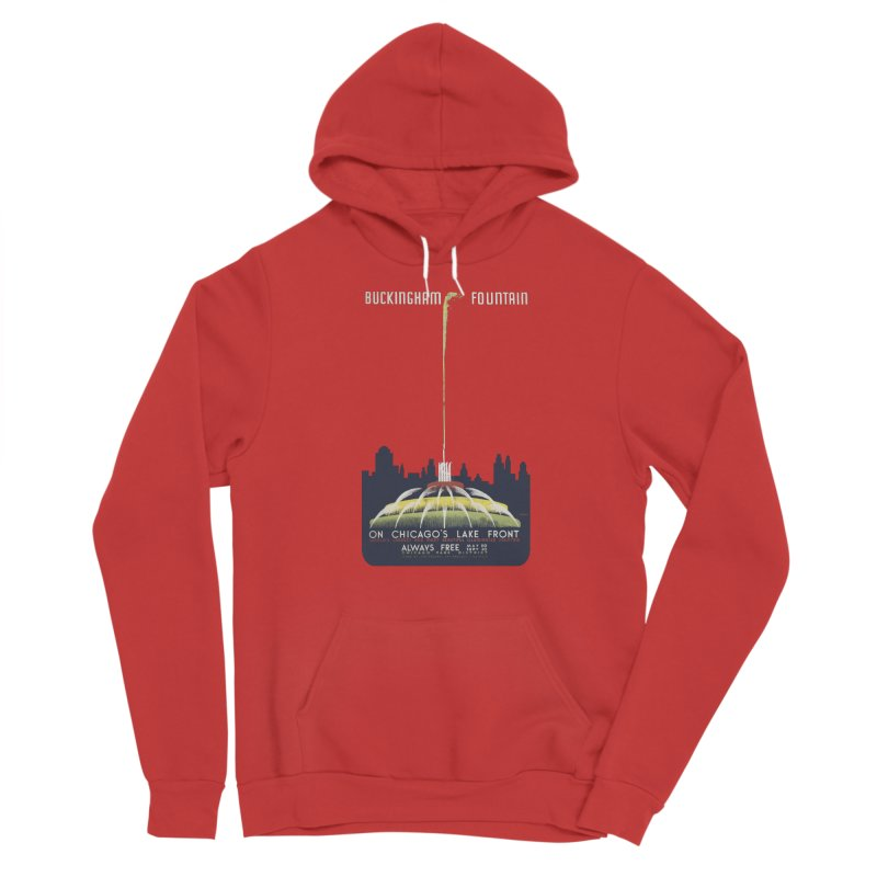 Buckingham Fountain Men's Pullover Hoody by chicago park district's Artist Shop