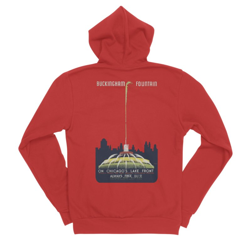 Buckingham Fountain Women's Zip-Up Hoody by chicago park district's Artist Shop