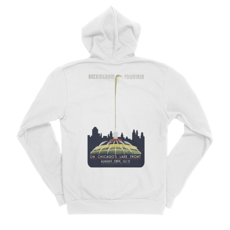 Buckingham Fountain Women's Sponge Fleece Zip-Up Hoody by chicago park district's Artist Shop