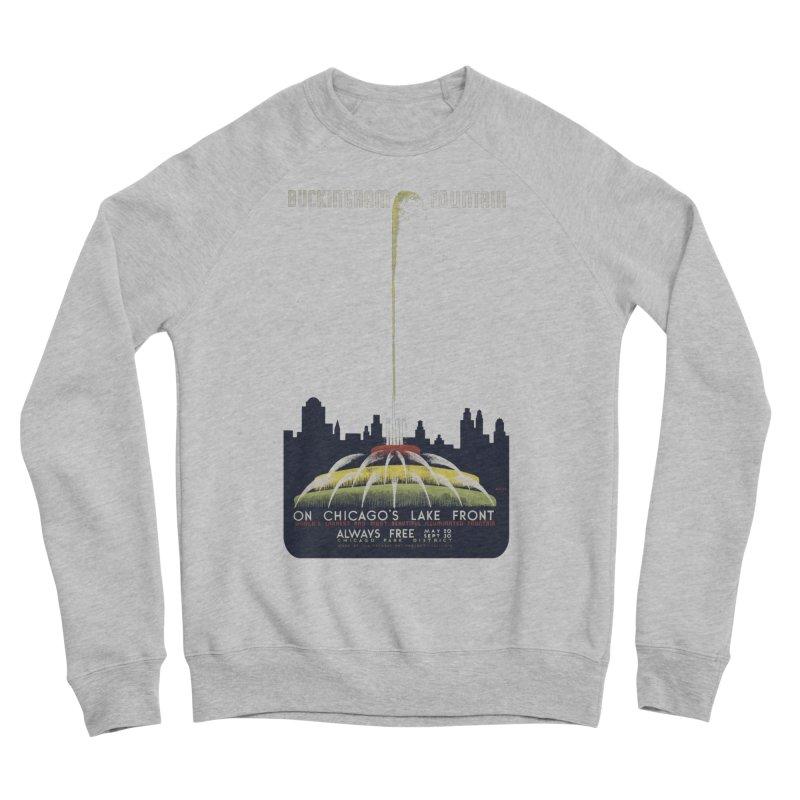 Buckingham Fountain Women's Sponge Fleece Sweatshirt by chicago park district's Artist Shop