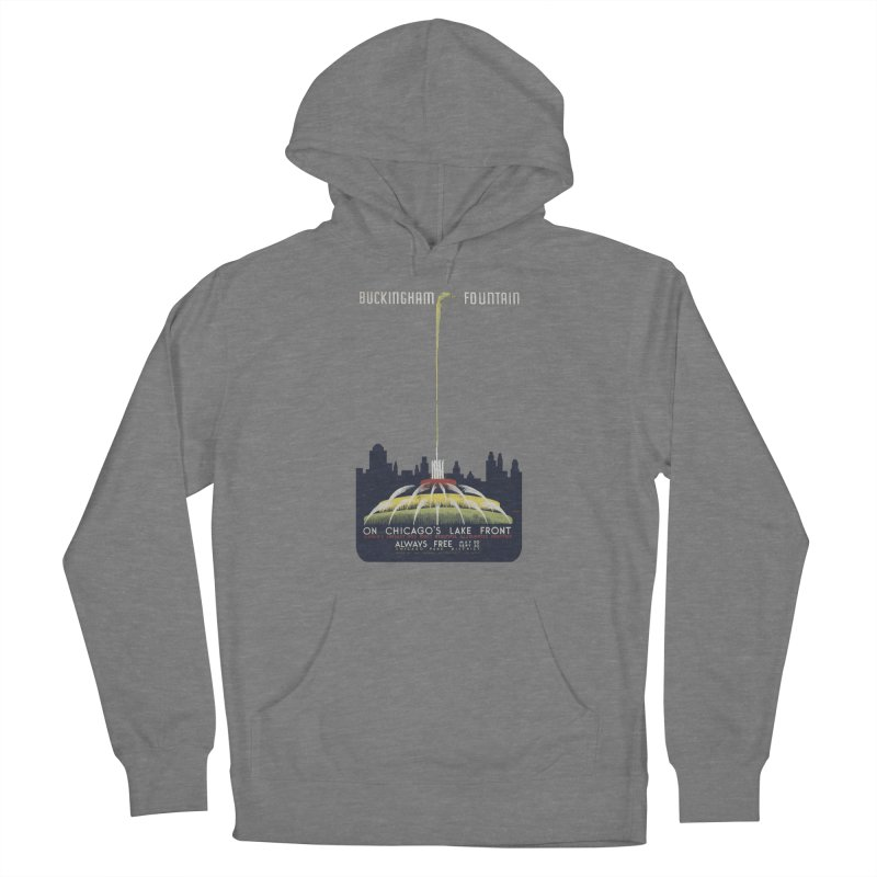 Buckingham Fountain Women's Pullover Hoody by chicago park district's Artist Shop