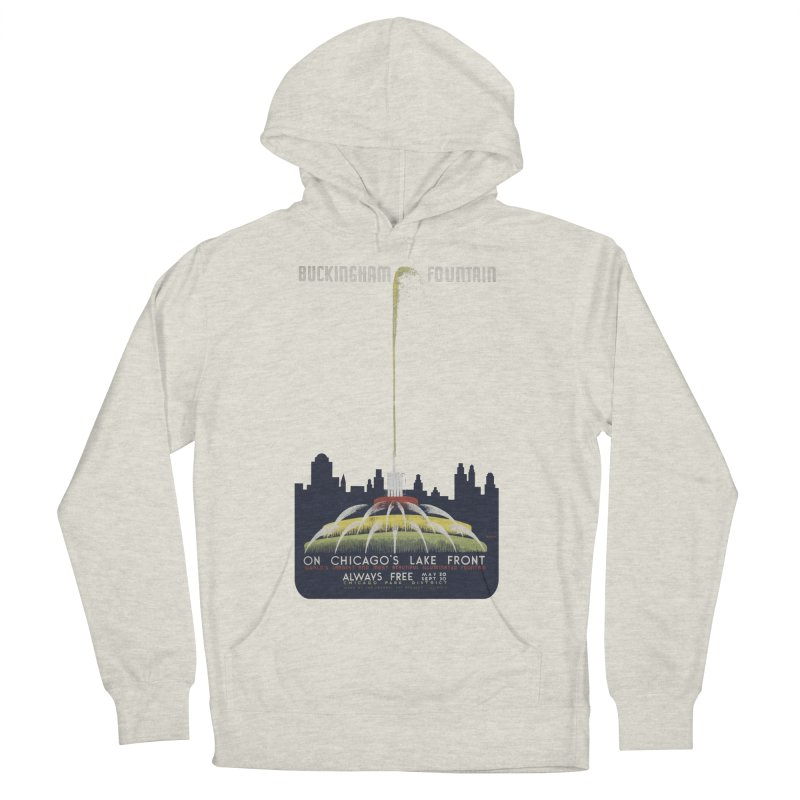 Buckingham Fountain Men's French Terry Pullover Hoody by chicago park district's Artist Shop