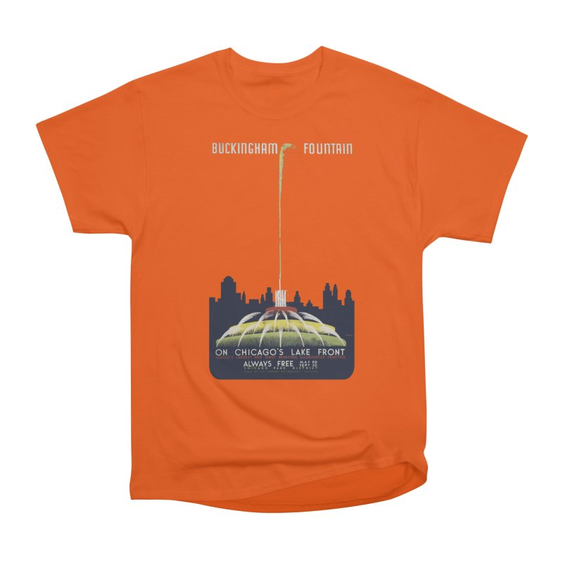 Buckingham Fountain Women's Heavyweight Unisex T-Shirt by chicago park district's Artist Shop