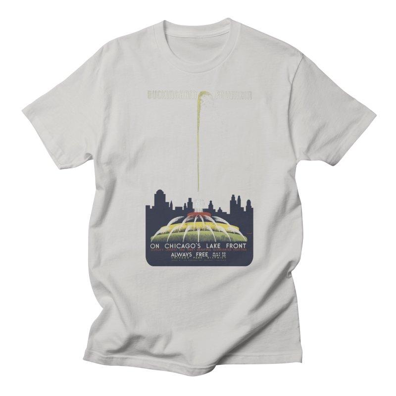 Buckingham Fountain Men's Regular T-Shirt by chicago park district's Artist Shop