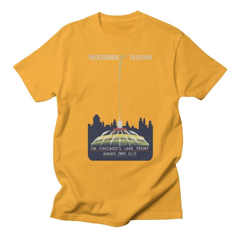Buckingham Fountain Women's Regular Unisex T-Shirt by chicago park district's Artist Shop