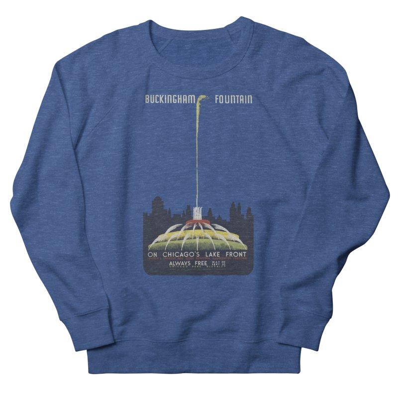 Buckingham Fountain Men's Sweatshirt by chicago park district's Artist Shop