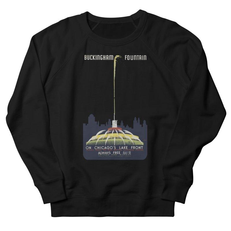 Buckingham Fountain Men's French Terry Sweatshirt by chicago park district's Artist Shop