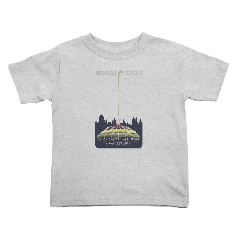 Buckingham Fountain Kids Toddler T-Shirt by chicago park district's Artist Shop