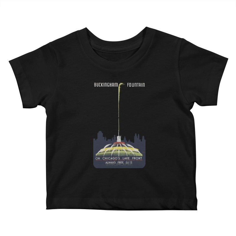 Buckingham Fountain Kids Baby T-Shirt by chicago park district's Artist Shop