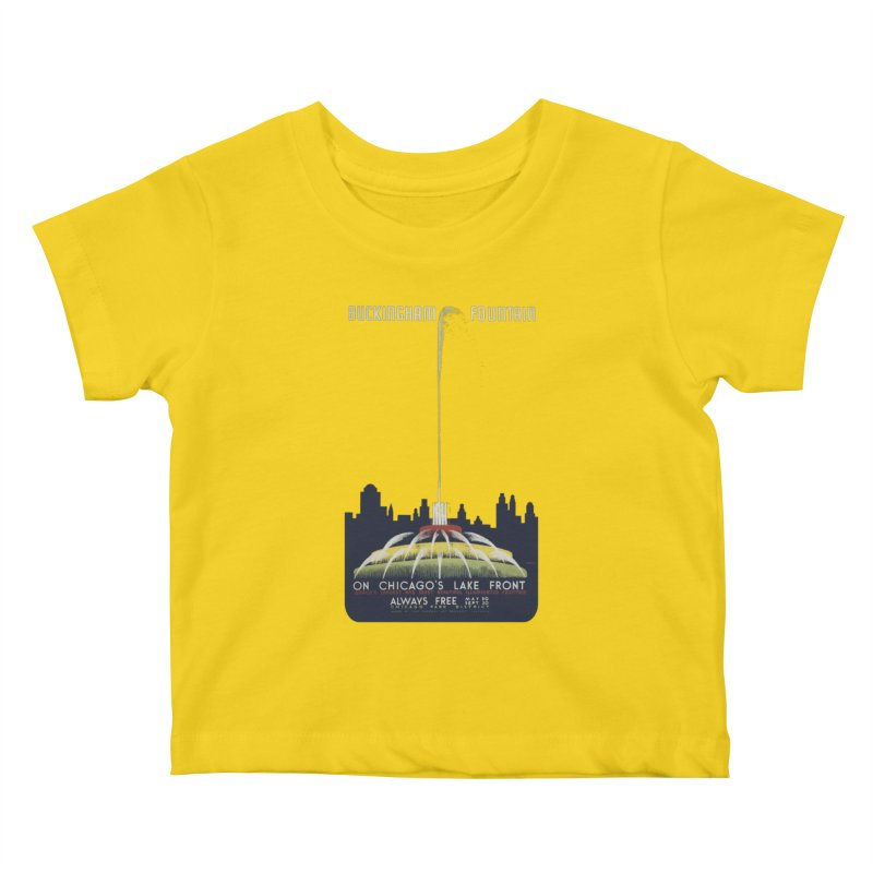 Buckingham Fountain Kids Baby T-Shirt by chicago park district's Artist Shop