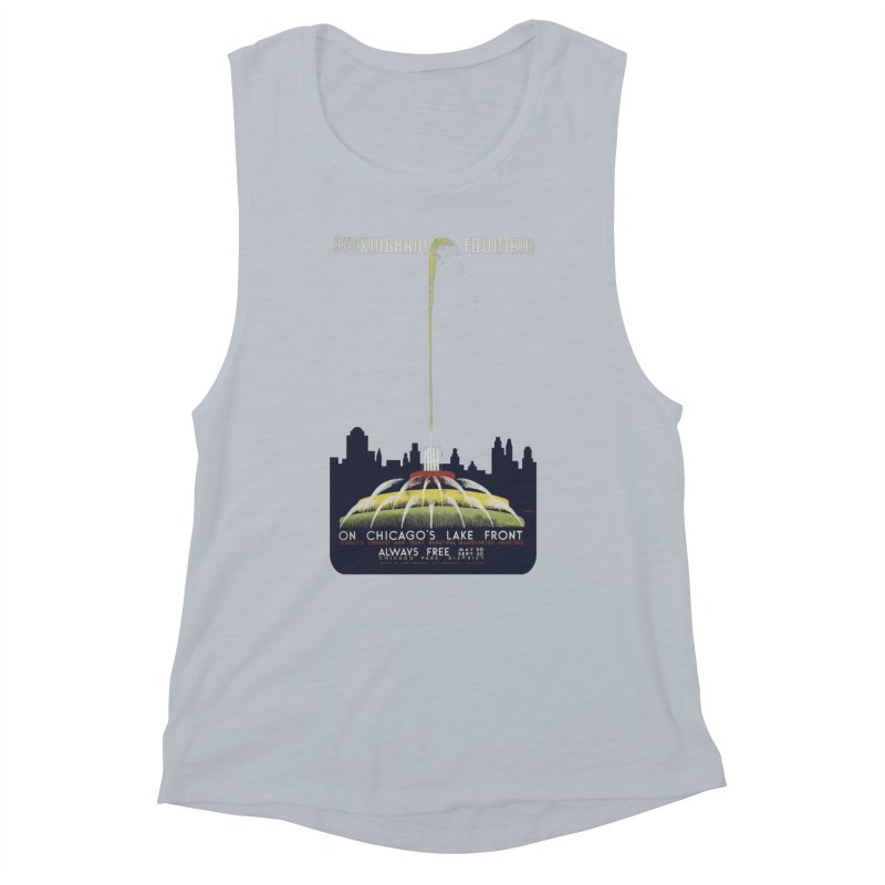 Buckingham Fountain Women's Muscle Tank by chicago park district's Artist Shop