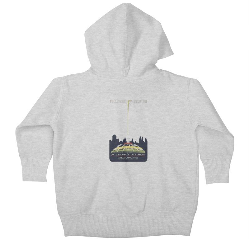Buckingham Fountain Kids Baby Zip-Up Hoody by chicago park district's Artist Shop