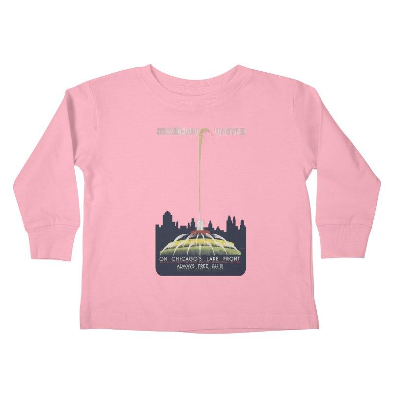 Buckingham Fountain Kids Toddler Longsleeve T-Shirt by chicago park district's Artist Shop