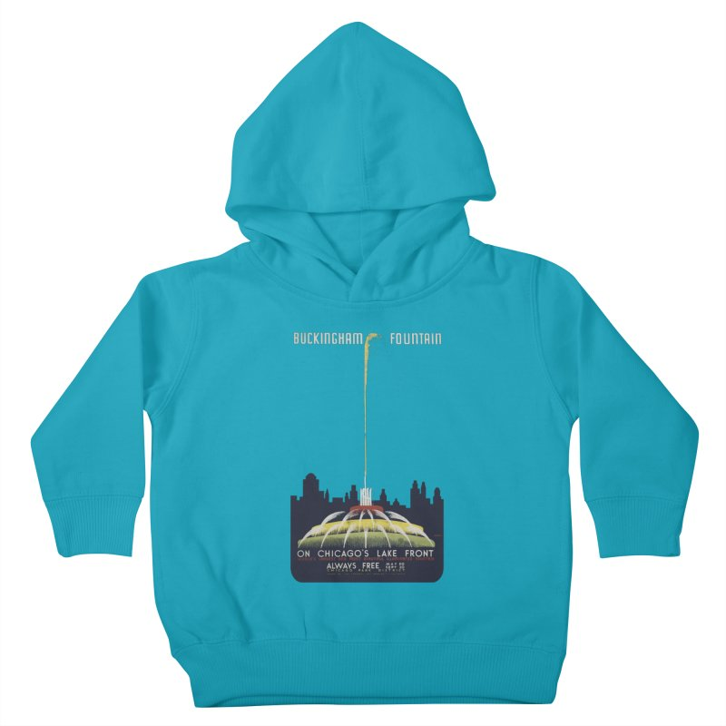 Buckingham Fountain Kids Toddler Pullover Hoody by chicago park district's Artist Shop