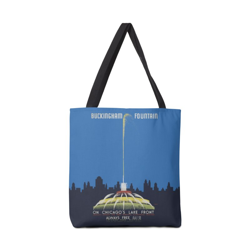 Buckingham Fountain Accessories Tote Bag Bag by chicago park district's Artist Shop