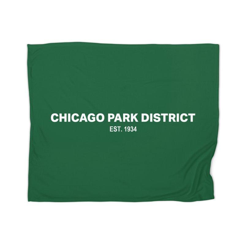 Chicago Park District Established Home Blanket by chicago park district's Artist Shop