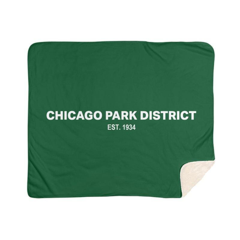 Chicago Park District Established Home Sherpa Blanket Blanket by chicago park district's Artist Shop