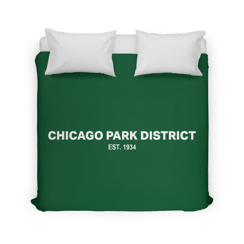 Chicago Park District Established Home Duvet by chicago park district's Artist Shop