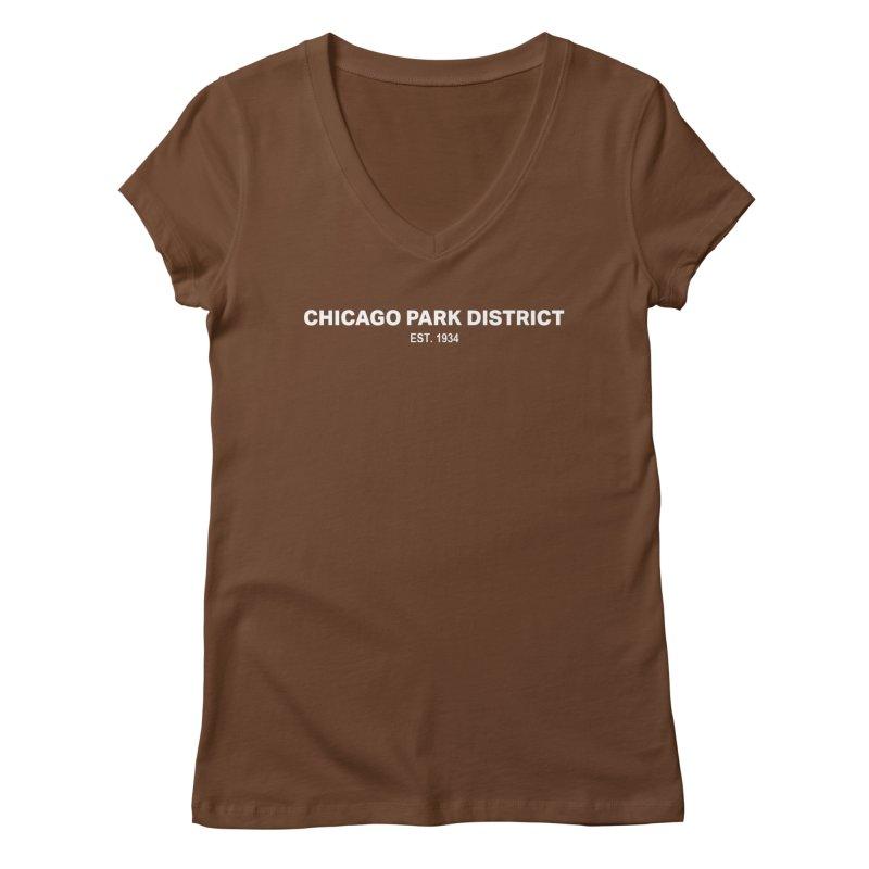 Chicago Park District Established Women's Regular V-Neck by chicago park district's Artist Shop