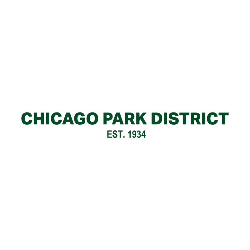 Chicago Park District Established - Green Home Mounted Aluminum Print by chicago park district's Artist Shop