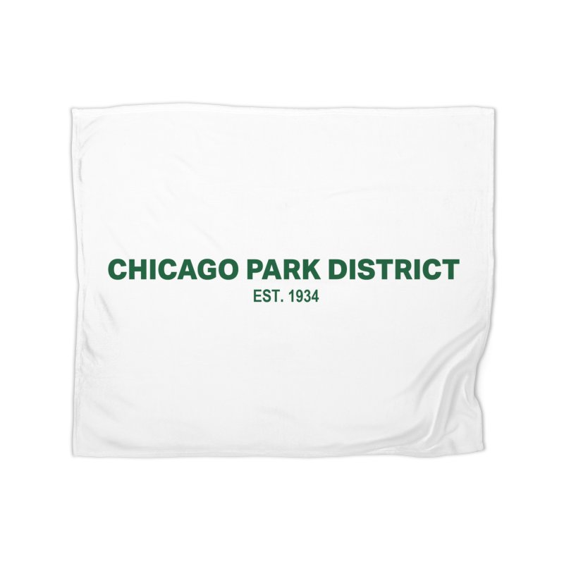 Chicago Park District Established - Green Home Blanket by chicago park district's Artist Shop