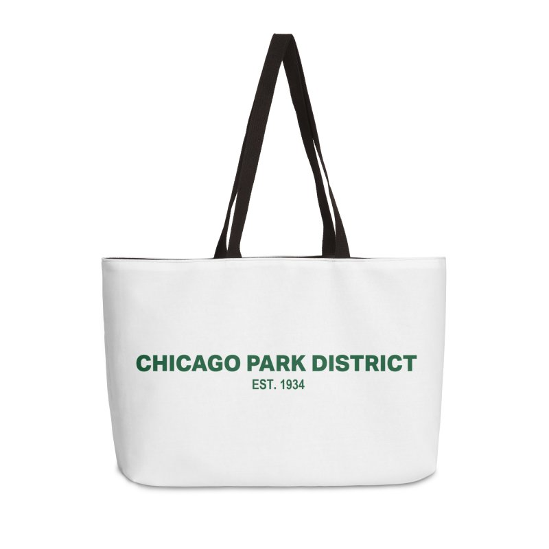 Chicago Park District Established - Green Accessories Weekender Bag Bag by chicago park district's Artist Shop