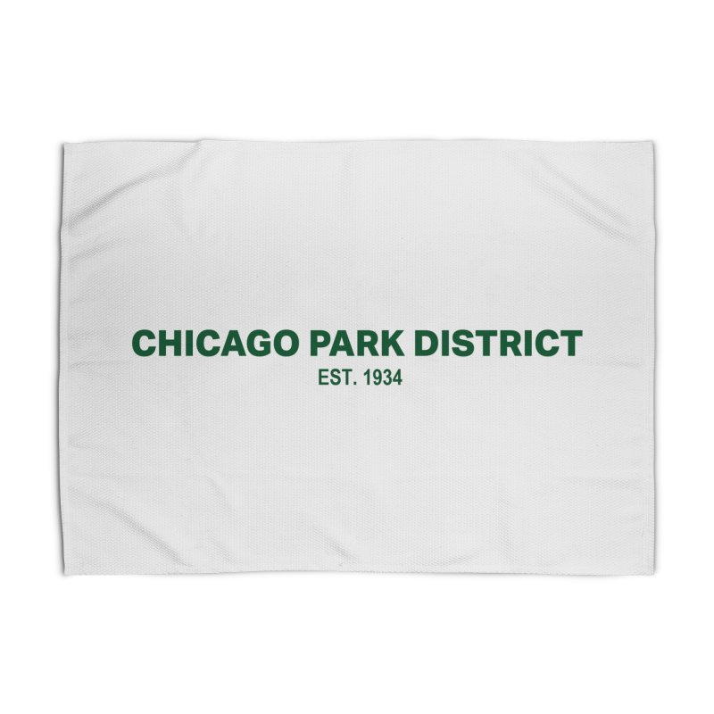 Chicago Park District Established - Green Home Rug by chicago park district's Artist Shop