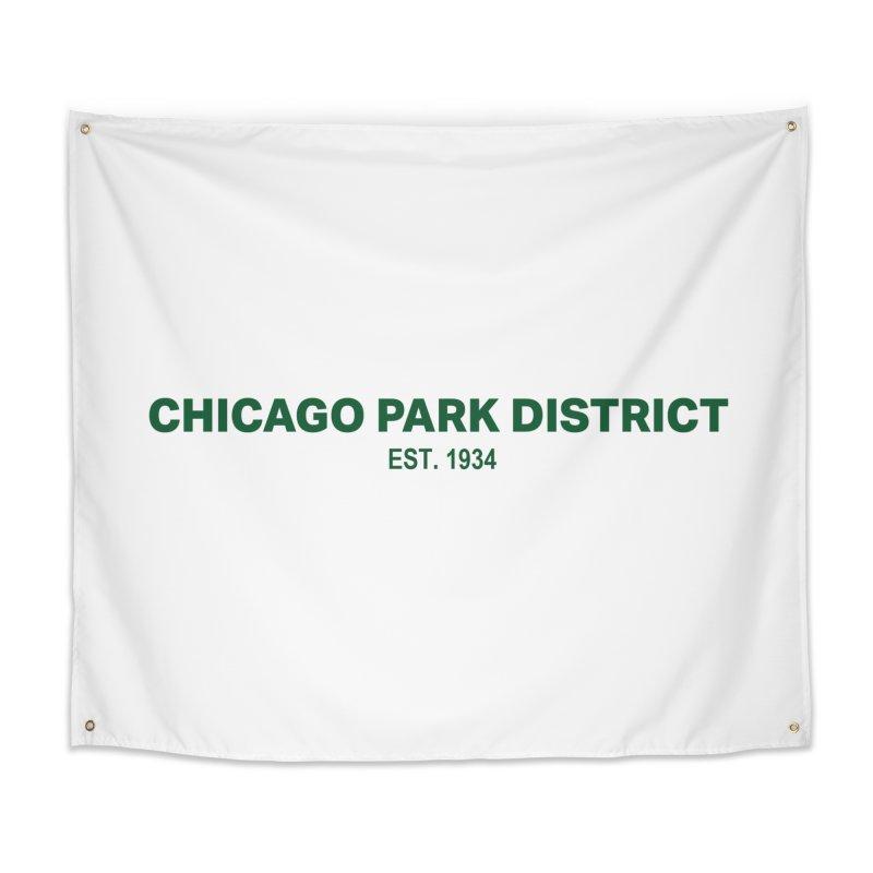 Chicago Park District Established - Green Home Tapestry by chicago park district's Artist Shop