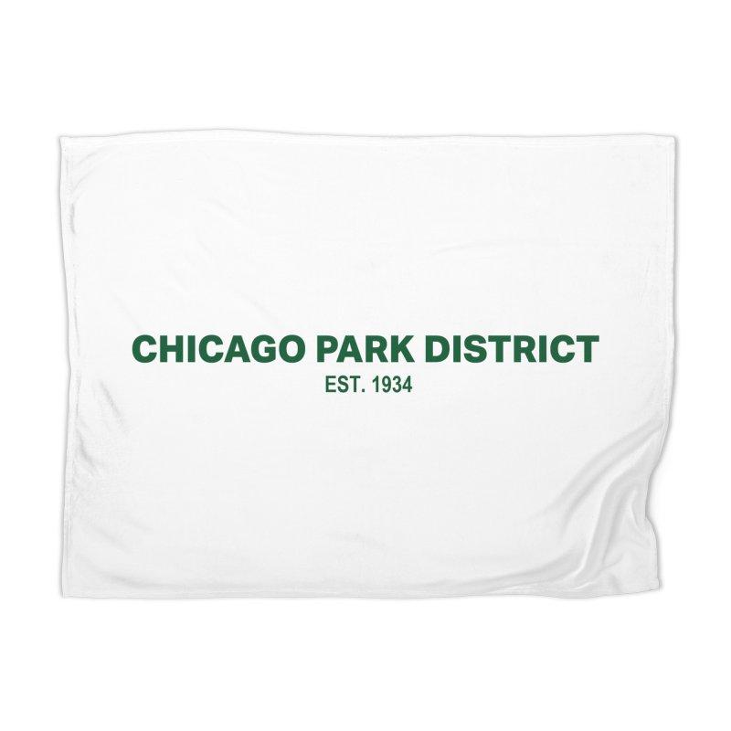 Chicago Park District Established - Green Home Blanket by chicago park district's Artist Shop