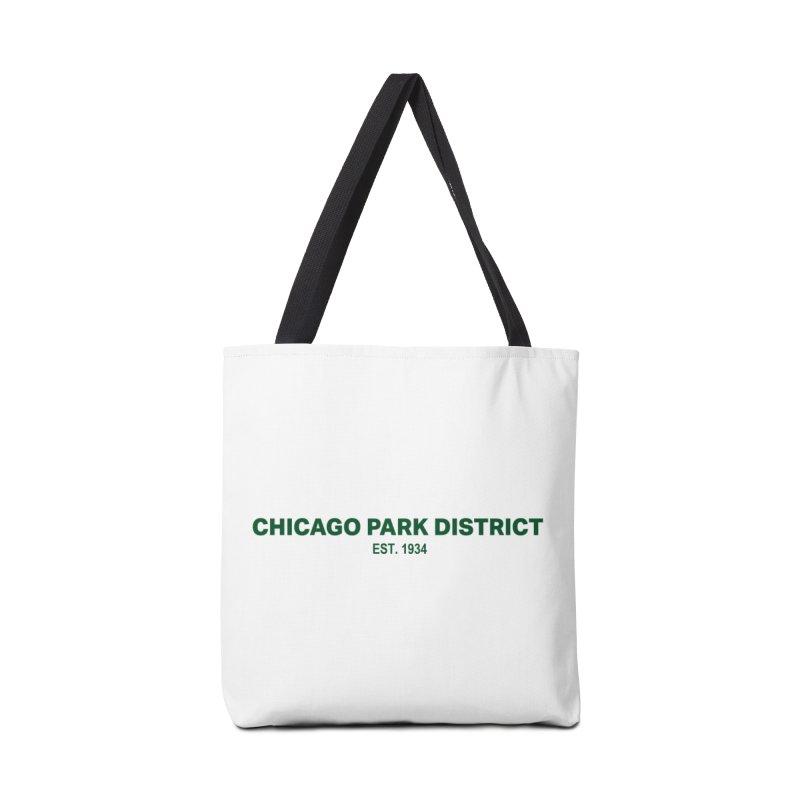 Chicago Park District Established - Green Accessories Tote Bag Bag by chicago park district's Artist Shop