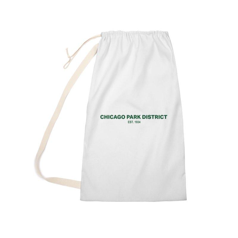 Chicago Park District Established - Green Accessories Bag by chicago park district's Artist Shop