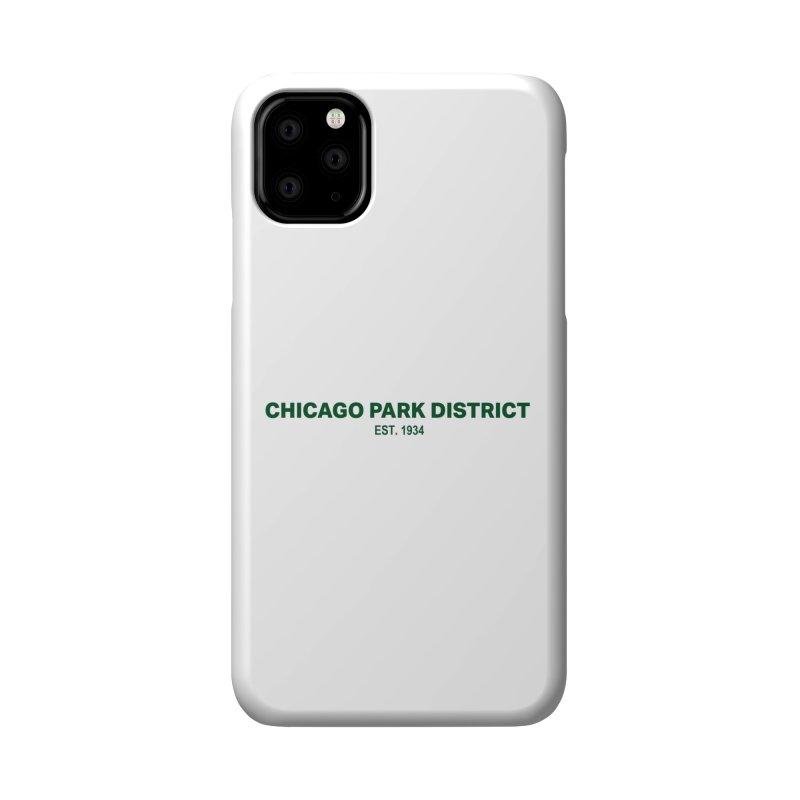 Chicago Park District Established - Green Accessories Phone Case by chicago park district's Artist Shop