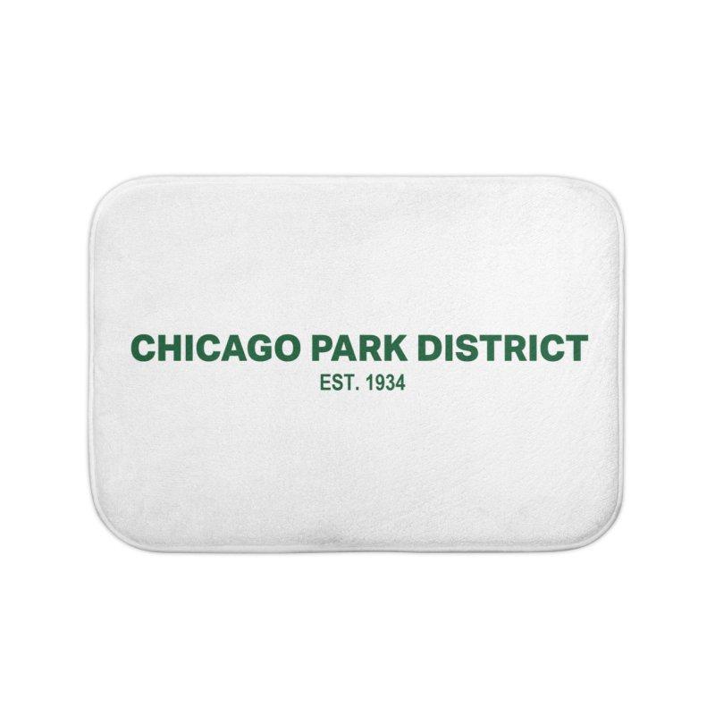 Chicago Park District Established - Green Home Bath Mat by chicago park district's Artist Shop
