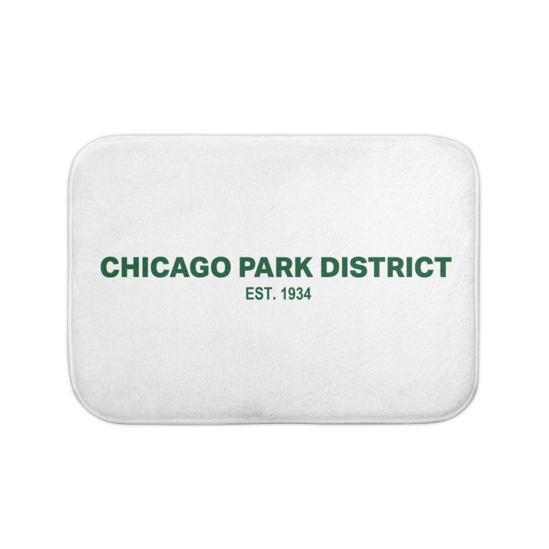 Chicago Park District Established - Green in Bath Mat by chicago park district's Artist Shop
