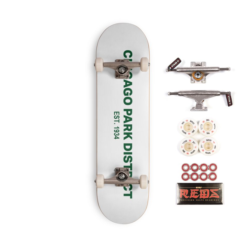 Chicago Park District Established - Green Accessories Complete - Pro Skateboard by chicago park district's Artist Shop