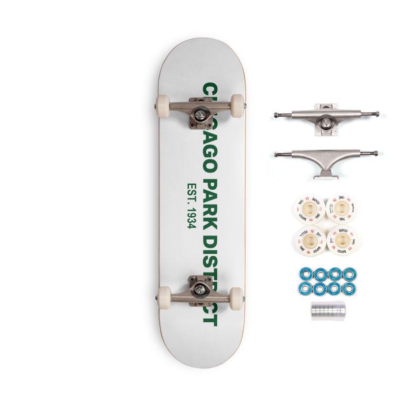 Chicago Park District Established - Green Accessories Complete - Premium Skateboard by chicago park district's Artist Shop
